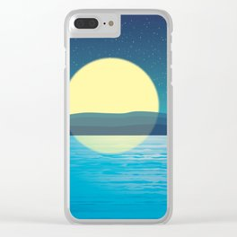 Night at the sea Clear iPhone Case