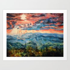 Canadian Sunset Art Print