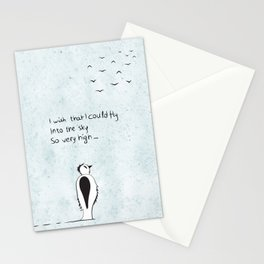 I wish that I could fly Stationery Cards