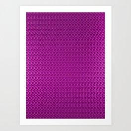 Metallic Neon PInk Graphite Honeycomb Carbon Fiber Art Print