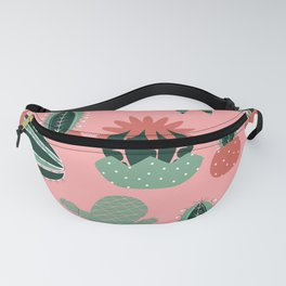 Succulents Pink Fanny Pack