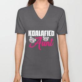 Koalafied Aunt | Koala Koalas Aunt Niece Nephew Unisex V-Neck
