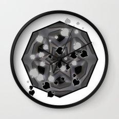 Ace of spades and star mandala Wall Clock