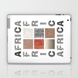 Africa - background with text and texture wild animal Laptop & iPad Skin