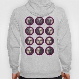 moon phases on dark purple Hoody