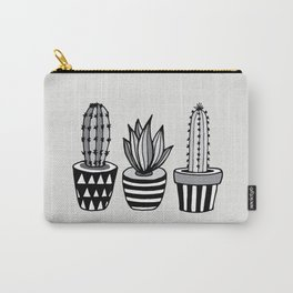 Cactus Plant monochrome cacti nature greyscale illustration floral succulent leaf home wall decor Carry-All Pouch