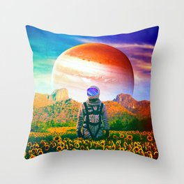 The Perpetually Lost Throw Pillow