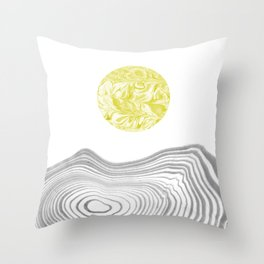 Tomo - spilled ink abstract modern swirl marble painting paint marbling japanese watercolor art Throw Pillow