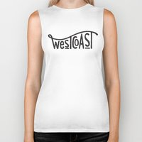 west coast Biker Tanks featuring West Coast by cabin supply co