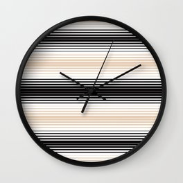 Deconstructed Serape in Tan Wall Clock