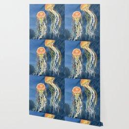 Dancing of Jellyfish Wallpaper