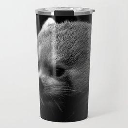 Awesome B&W red Panda Travel Mug
