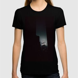 Night Lights Empire State Fog and Snow T-shirt