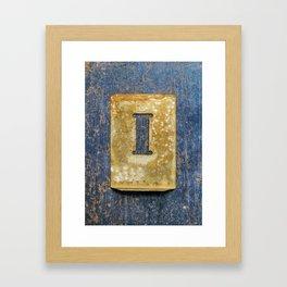 Letter I Framed Art Print