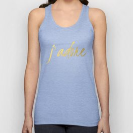 J'adore in Gold Unisex Tank Top