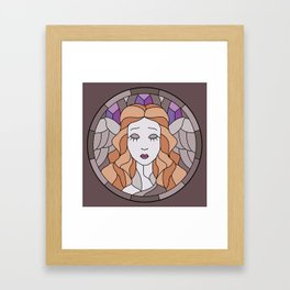 Angel - Stained Glass Framed Art Print