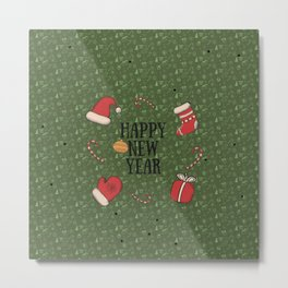 New Year, Cristmas, winter holidays Metal Print