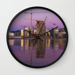 Oslo Skyline 1 Wall Clock