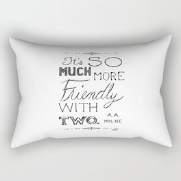 Friendly With Two Rectangular Pillow