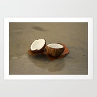 coconut wishes Art Prints featuring Coconut by cinema4design