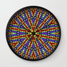 Kaleidoscope Pride Flag Wall Clock