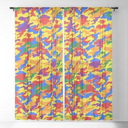 Homouflage Gay Stealth Camouflage Sheer Curtain