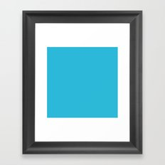 Cyan Vivid Arctic Blue Solid Matte Colour Palette Framed Art Print