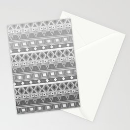 black and white pattern, geometric pattern, gradint, gray striped Stationery Cards
