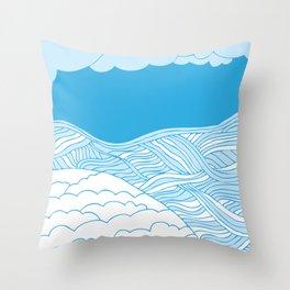 Sea & Sand Throw Pillow