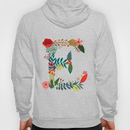 Monogram E Floral letter Hoody