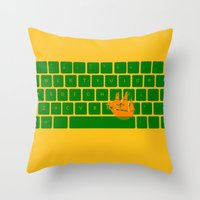 spaceship Throw Pillows featuring Spaceship by Dampa