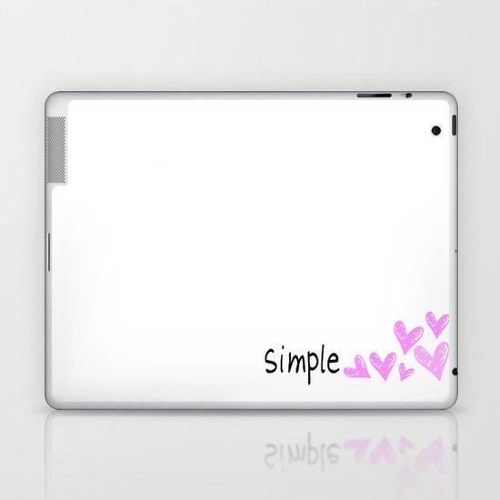 simple hearts  Laptop & iPad Skin