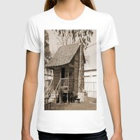 cabin T-shirts featuring Log Cabin by Rhonda Lain