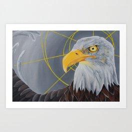crazy eye eddie Art Print