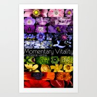 bands Art Prints featuring Spectral Bands by Momentary Vitality