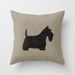 Scottish Terrier Scottie Silhouette Throw Pillow