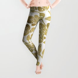 Cherry Blossoms – Gold Palette Leggings