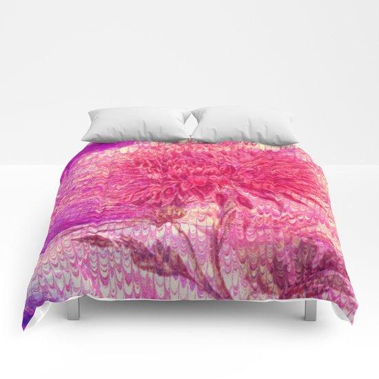 pink Chrysanthemum Comforters