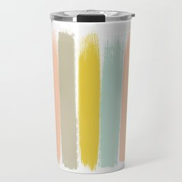 Madison - Brushstroke art print in modern colors bright and happy gifts for trendy girls Travel Mug
