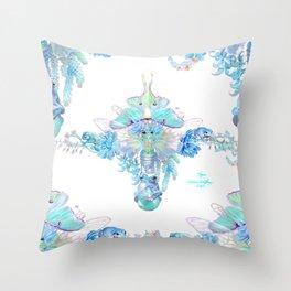 Aqua Chalcedony Throw Pillow