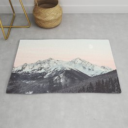 Mountains in Winter Rug