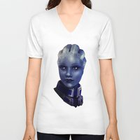 mass effect V-neck T-shirts featuring Mass Effect: Liara T'soni by Ruthie Hammerschlag