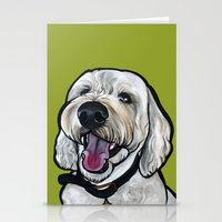 kermit Stationery Cards featuring Kermit the labradoodle by Pawblo Picasso