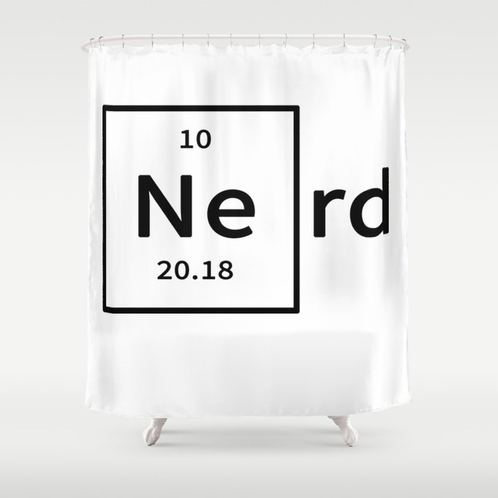 Neon Nerd Shower Curtain By Theafroman