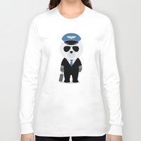 aviation Long Sleeve T-shirts featuring Aviation Bear by Elle Moz