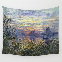 Claude Monet, French, 1840-1926 Marine View with a Sunset Wall Tapestry