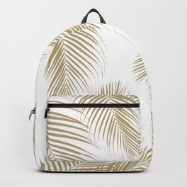 Palm Leaves - Gold Cali Vibes #3 #tropical #decor #art #society6 Backpack