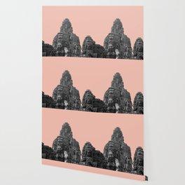 Angkor Wat with beige Wallpaper