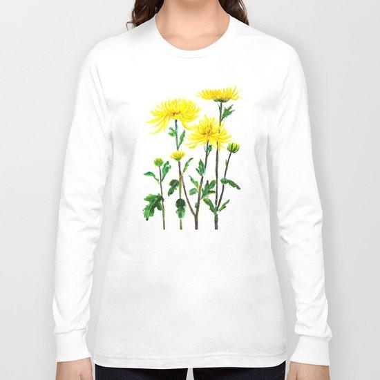 yellow chrysanthemum Long Sleeve T-shirt