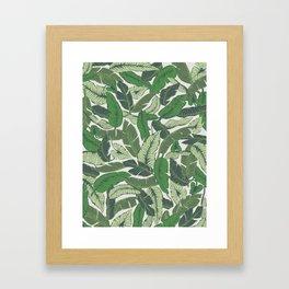 Savusavu Tropical Print Framed Art Print